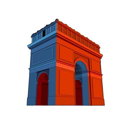 triumphal arch: stylize vector triumphal arch