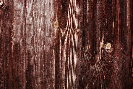 Old wooden background. Brown scratched wooden board Stock Photo