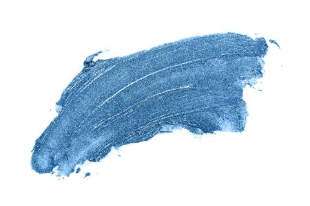 Lipstick swatch smudge sample. blue Isolated on white background