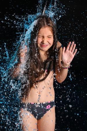 Young teen girls see through bikinis