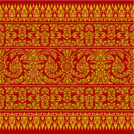 backgroud: Thai Ornament Backgroud