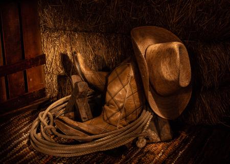 Cowboy Gear in Hay Loft