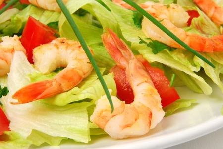 Shrimp salad  Stock Photo - 10530035
