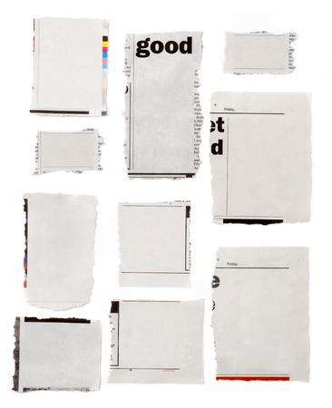 blank newspaper: Newspaper tears