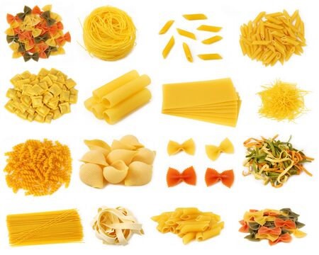 pasta isolated: Pasta collection Stock Photo