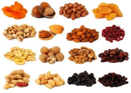 Nüsse und getrocknete Früchte