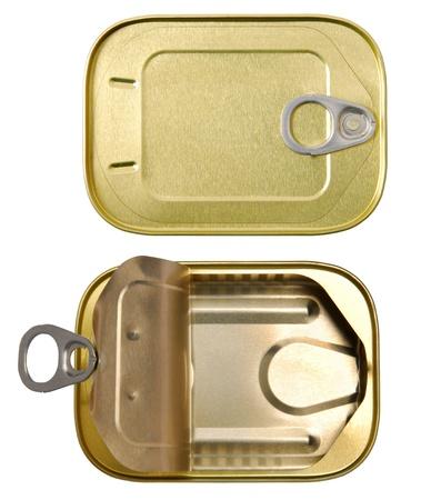 tin can: Tins  Stock Photo