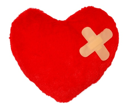 Heart with a bandage  photo
