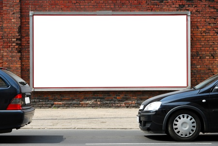 affichage publicitaire: Billboard dans la rue Banque d'images