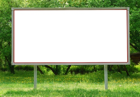 affichage publicitaire: Billboard entre verdure Banque d'images