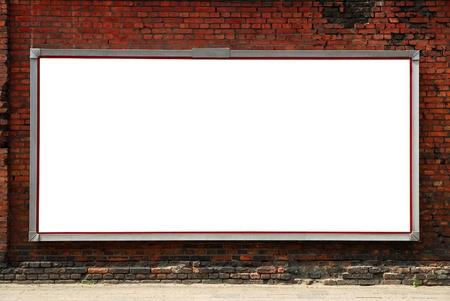 Billboard on brick wall photo