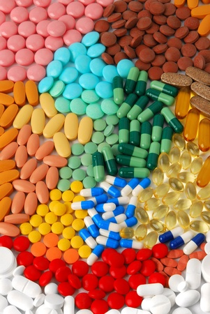 supplement: Various pills, tablets and capsules