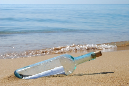 Letter in a bottle  photo