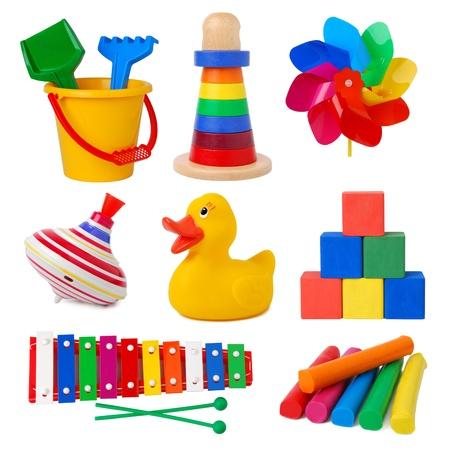 Toys isolated on white background  Stock Photo