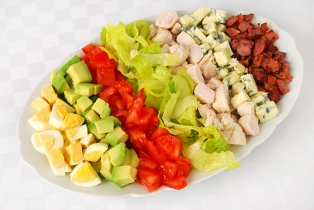 turkey bacon: Cobb salad  Stock Photo