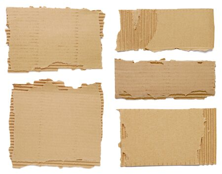 Pieces of cardboard  photo