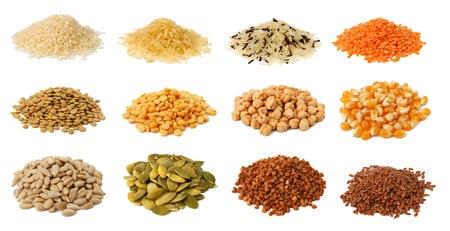semillas de girasol: Colección de granos