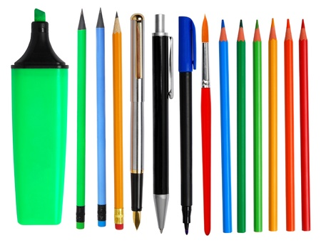 Pens and pencils photo