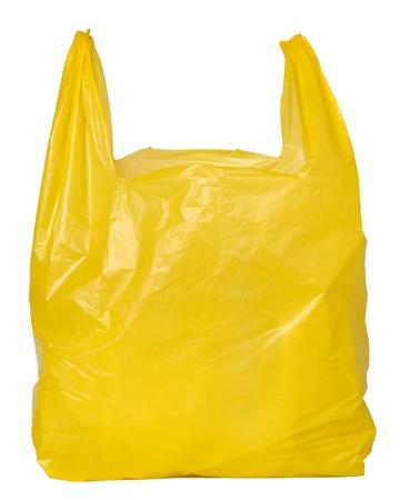 Jaune sac en plastique Banque d'images