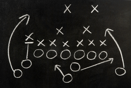 Plan of a football game  Stock Photo - 10769475