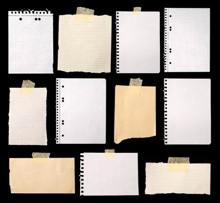 blank newspaper: Pieces of paper ready for making notes  Stock Photo