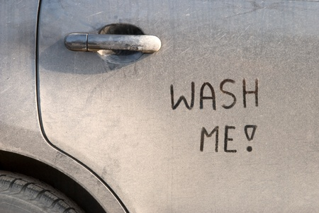 wash: Dirty car