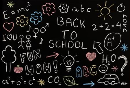 Drawings on a blackboard  photo