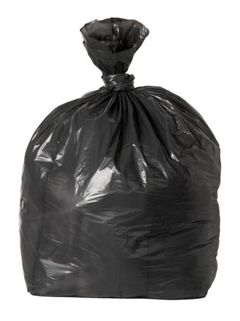 Tied black rubbish bag  photo
