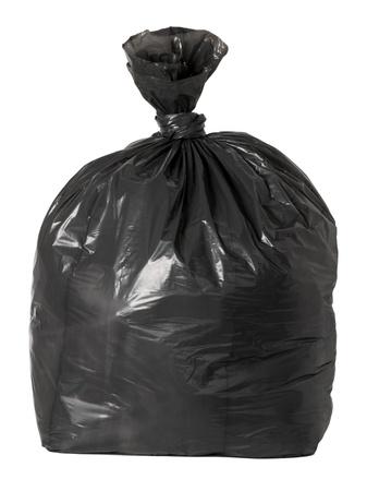 Śmieciarka: Tied czarny worek Å›mieci