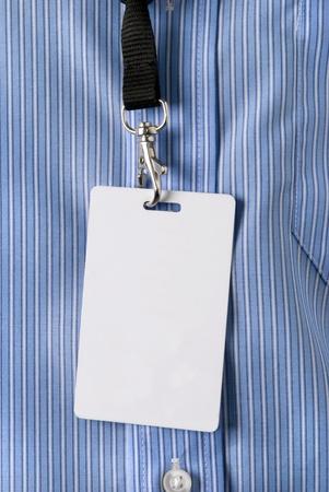 room card: Identity card Stock Photo