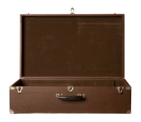 Old open suitcase