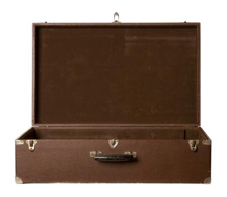 Vieux valise ouverte
