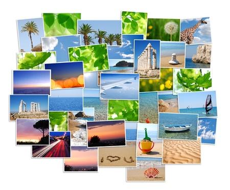 snapshots: Pile of photos Stock Photo