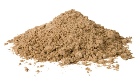 dirt: Pile of sand isolated on white