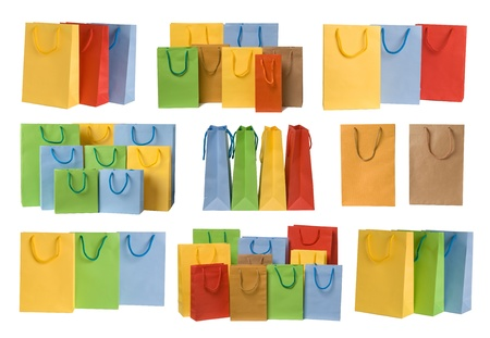 Shopping bags collection Stock Photo - 10865488