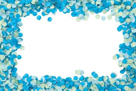 Cadre bleu confettis