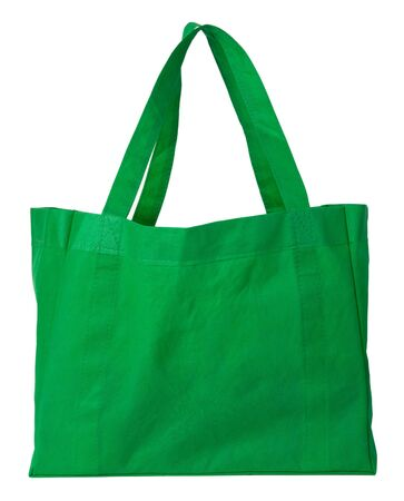 fabric bag: Green, reusable shopping bag