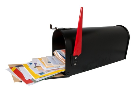 junk mail: Mailbox full of mail  Stock Photo