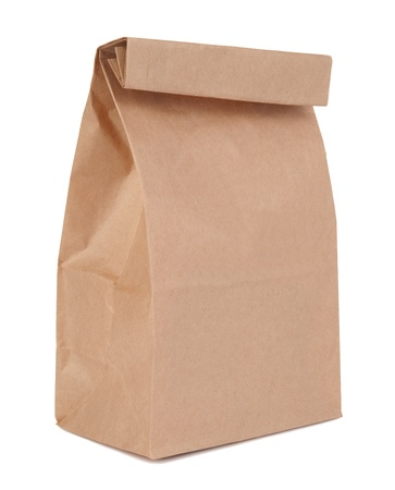 brown paper bags: Lunch bag Stock Photo