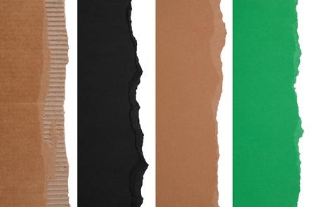 shredded paper: Torn paper borders