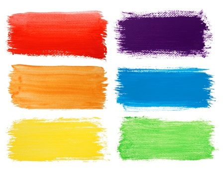 paint strokes: Brush strokes banners  Stock Photo