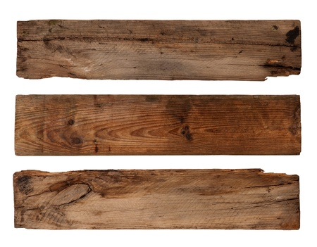 Old planks isolated on white  photo