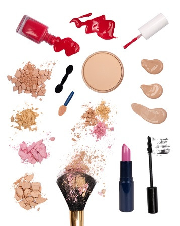 compact: Makeup products Stock Photo