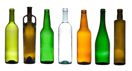 green bottle: Collection of empty bottles