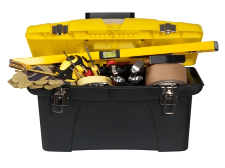 tool box: Toolbox with tools