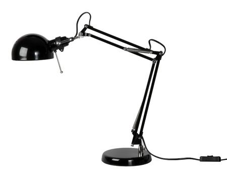 table lamp: Black desk lamp isolated on white