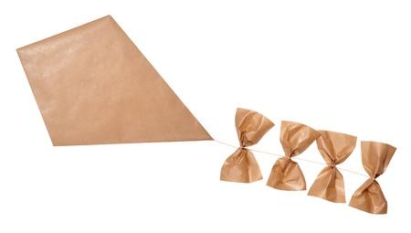 papalote: Kite aislado en blanco