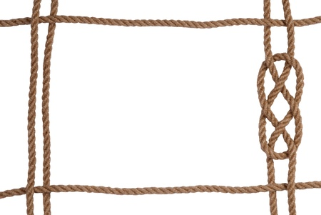 western border: Rope frame