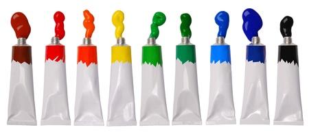 palet: Pintura en tubos