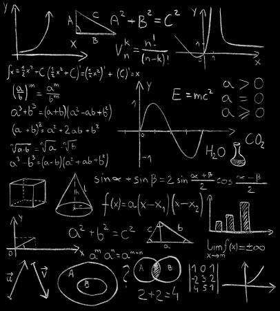 Maths formulas on a blackboard Stock Photo - 15320772